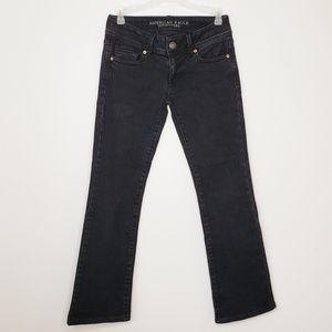 American Eagle black kick boot jeans size 0 short
